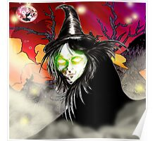 Witch Creature Digital Painting 2 Poster