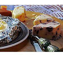 Easter Cheese Plate Photographic Print