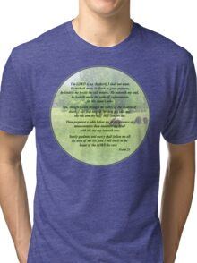 Psalm 23 The Lord Is My Shepherd Tri-blend T-Shirt