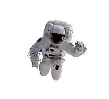Astronaut on White by Henrik Lehnerer