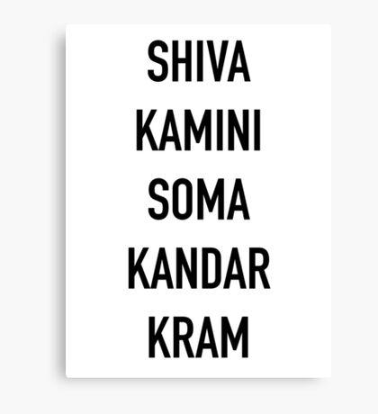 Shivakamini Somakandarkram – The League, Taco, Shiva Blast Canvas Print