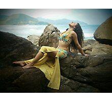 Bellydancer at Camburi, Brazil Photographic Print