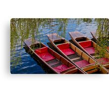 Punting Boats Canvas Print
