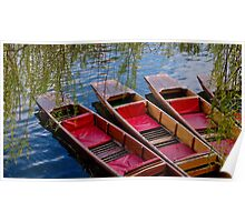 Punting Boats Poster