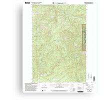 USGS Topo Map Washington State WA Bernier Creek 240022 2000 24000 Canvas Print