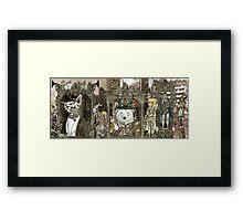 Steampunk City Framed Print