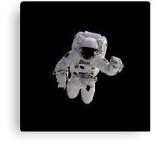Astronaut on Black Canvas Print