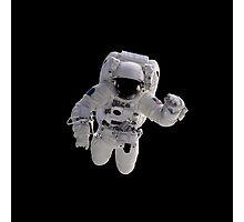 Astronaut on Black Photographic Print