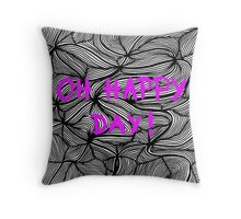 Oh happy day! on swirls pink - OneMandalaAday Throw Pillow