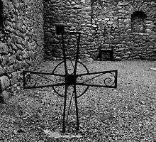 St.Mullin's Monastary - Iron Grave Marker by rsangsterkelly