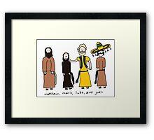 Matthew, Mark, Luke, and Juan Framed Print