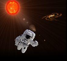 Astronaut And Sun by Henrik Lehnerer