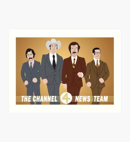 The Channel 4 News Team Art Print