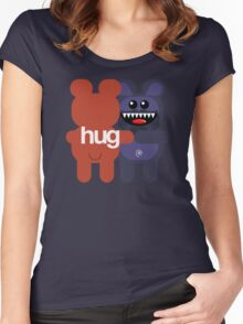 BEARD BEAR HUG 2 Women's Fitted Scoop T-Shirt