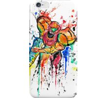Epic Samus Aran - Watercolor Streetart T shirts + More! iPhone Case/Skin