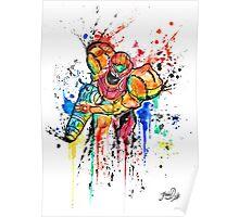 Epic Samus Aran - Watercolor Streetart T shirts + More! Poster