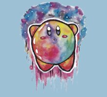 Cute Galaxy KIRBY - Watercolor Painting - Nintendo Jonny2may Kids Clothes