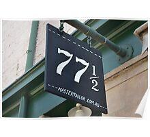 Shop Number 77 & a 1/2 Poster