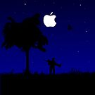 Couple under the Apple moon by MrYum