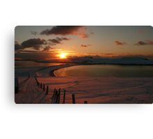 Minn beach in snow Canvas Print