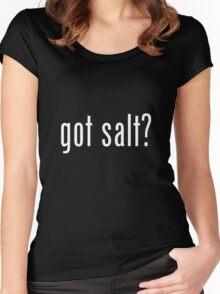 got salt dark Women's Fitted Scoop T-Shirt