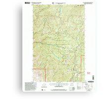 USGS Topo Map Washington State WA Loup Loup Summit 242081 2001 24000 Metal Print