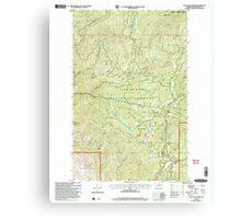 USGS Topo Map Washington State WA Loup Loup Summit 242081 2001 24000 Canvas Print