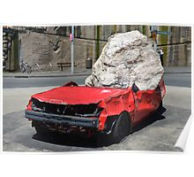 Crushed Car - Pop Up Art Poster