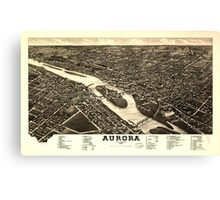 Panoramic Maps Aurora Illinois 1882 Canvas Print