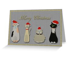 Cats in hats Christmas card Greeting Card