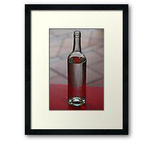 Red Bottle Framed Print