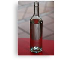 Red Bottle Canvas Print