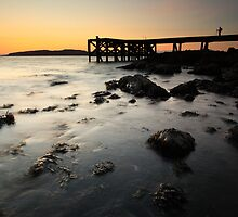 Portencross Pier Sunset by Grant Glendinning