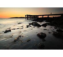 Portencross Pier Sunset Photographic Print