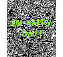 Oh happy day! on swirls green - OneMandalaAday Photographic Print