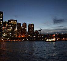 Sydney's Skyline Night Lights II by PaperRosePhoto