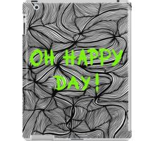 Oh happy day! on swirls green - OneMandalaAday iPad Case/Skin