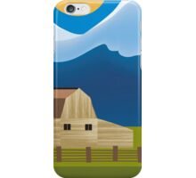 Wyoming - Skyline Illustration by Loose Petals iPhone Case/Skin