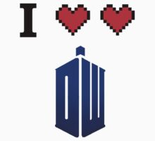 I love love Doctor Who Kids Tee