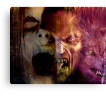 They Only Come Out At Night Canvas Print