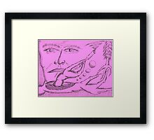 adicted to ideology Framed Print