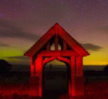 Aurora Borealis Northern Lights Over Nidderdale Yorkshire Dales IMG 2583 Sticker