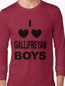 I Love Love Gallifreyan Boys Long Sleeve T-Shirt