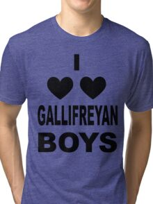I Love Love Gallifreyan Boys Tri-blend T-Shirt