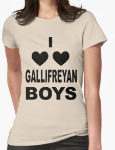 I Love Love Gallifreyan Boys Womens Fitted T-Shirt