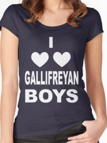 I Love Love Gallifreyan Boys Women's Fitted Scoop T-Shirt
