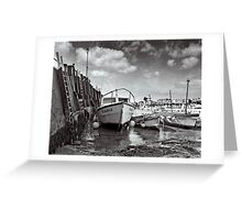 By the harbour wall..! Greeting Card
