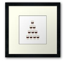 Castle coffee Framed Print