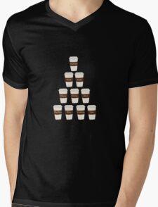Castle coffee Mens V-Neck T-Shirt