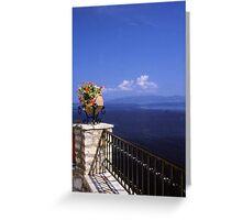 Flowers, Sea & Sky Greeting Card